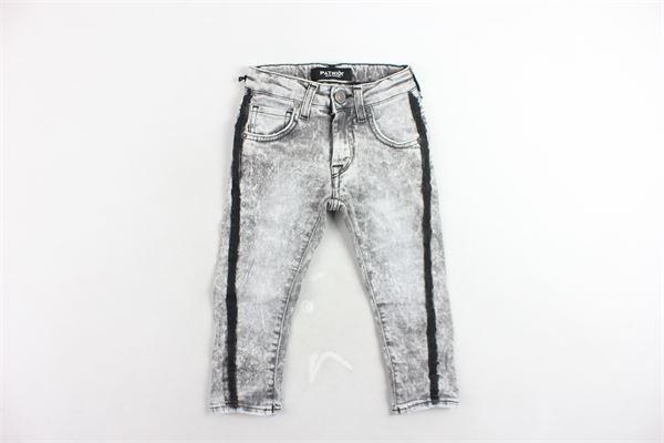 jeans 5 tasche tinta unita con girovita regolabile e bande in contrasto PATRIOT | Jeans | PB868GRIGIO