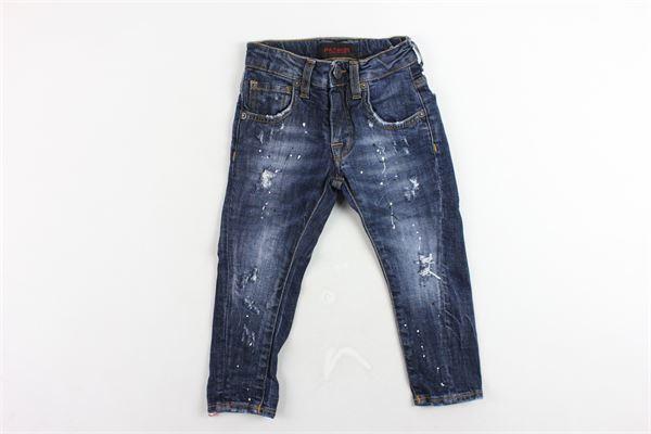 jeans 5 tasche tinta unita con girovita regolabile PATRIOT | Jeans | PB900BLU