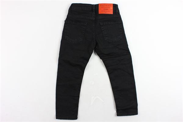 jeans 5 tasche tinta unita con girovita regolabile PATRIOT | Jeans | PB929NERO