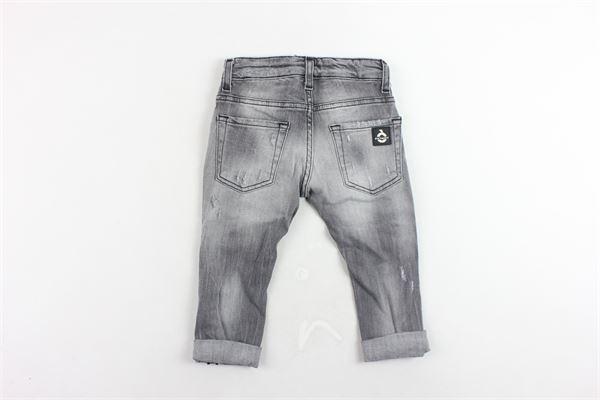 jeans 5 tasche tinta unita con girovita regolabile con strappi PATRIOT | Jeans | PB946GRIGIO