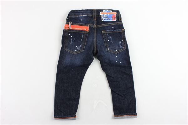 jeans 5 tasche tinta unita con girovita regolabile PATRIOT | Jeans | PB980BLU