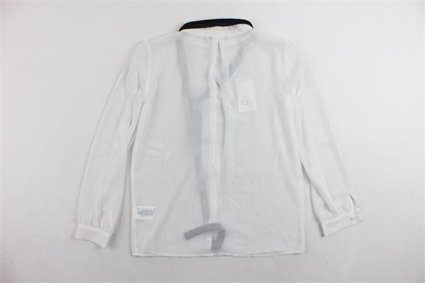 camicia manica lunga tinta unita con fiocco PATRIZIA PEPE | Camicie | PJFCA084225BIANCO