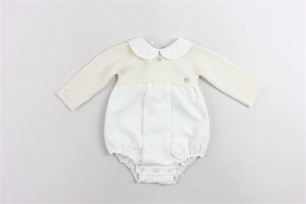 pagliaccetto manica lunga in lana PAZ RODRIGUEZ | Pagliaccetti | 005-11721PANNA