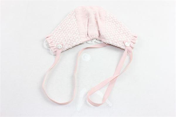 cuffia in cotone con ricami PAZ RODRIGUEZ | Cappelli | 011-15934ROSA