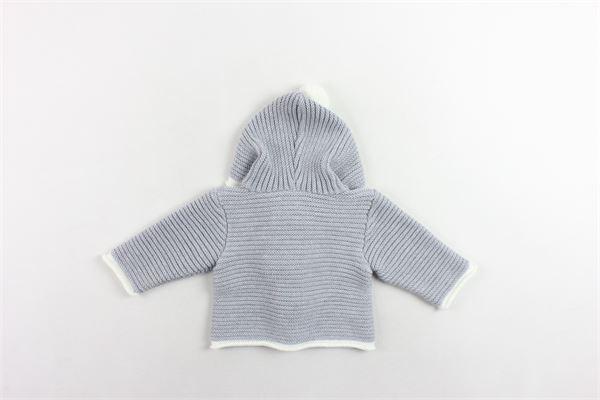 cardigan in lana con cappuccio e pon pon in contrasto PAZ RODRIGUEZ | Maglie | 012-21022GRIGIO