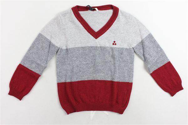 maglione manica lunga bicolore PEUTEREY | Maglie | PTB0472GRIGIO