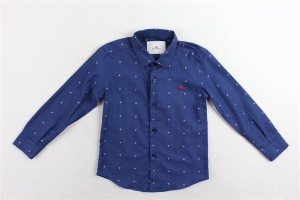 camicia manica lunga microfantasia PEUTEREY | Camicie | PTB0829BLU