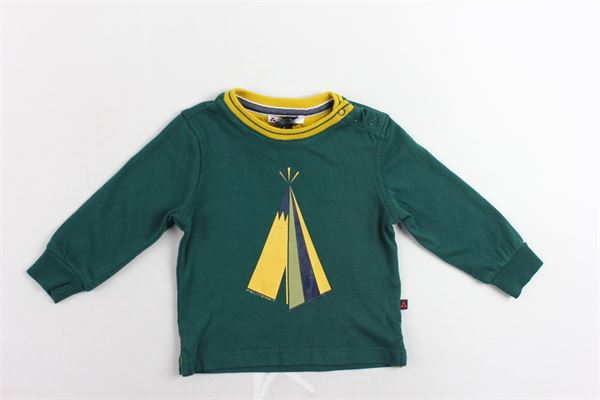 shirt manica lunga tinta unita con stampa e bottoni alla spalla PEUTEREY | Shirts | PTB0841VERDE