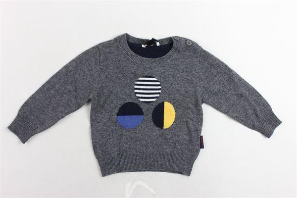 maglione girocollo tinta unita con stampa e bottoni alla spalla PEUTEREY | Maglie | PTB0847GRIGIO