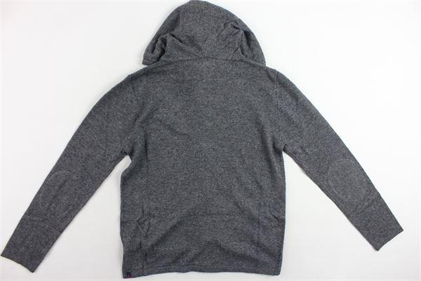 felpa in lana zip e cappuccio tinta unita PEUTEREY | Felpe | PTB0849GRIGIO