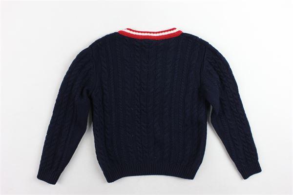 maglione tinta unita manica lunga con profili in contrasto PEUTEREY | Maglie | PTB0905BLU