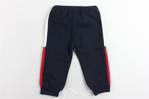 pantalone tuta in felpa tinta unita profili in contrasto PEUTEREY | Pantaloni | PTB0935BLU