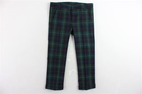 pantalone tasca america fantasia a quadri girovita regolabile PEUTEREY | Pantaloni | PTB0943VERDE