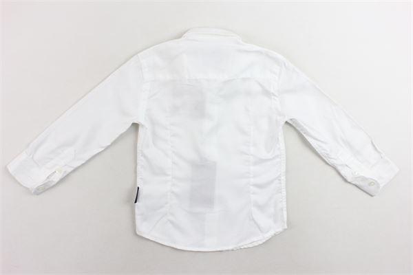 camicia manica lunga tinta unita con logo PEUTEREY | Camicie | PTB1022BIANCO