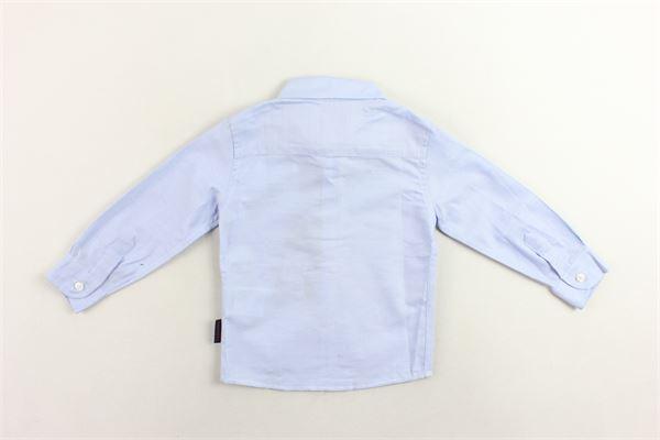 camicia manica lunga tinta unita con logo PEUTEREY | Camicie | PTB1022CELESTE