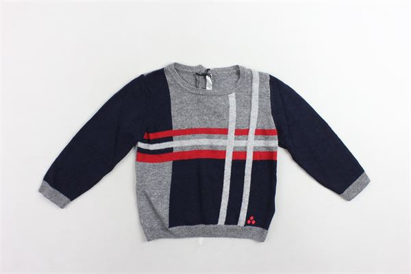 maglione girocollo con maniche in contrasto PEUTEREY | Maglie | PTB1308GRIGIO