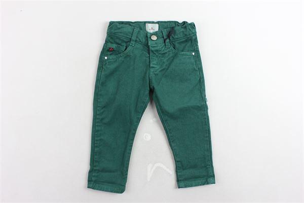 pantalone 5 tasche tinta unita girovita regolabile PEUTEREY   Pantaloni   PTB1424VERDE