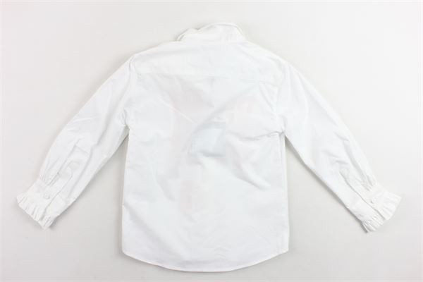 camicia manica lunga tinta unita con stampa PHILOSOPHY | Camicie | PJCA22BIANCO
