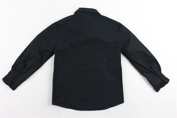camicia manica lunga tinta unita con stampa PHILOSOPHY | Camicie | PJCA22NERO