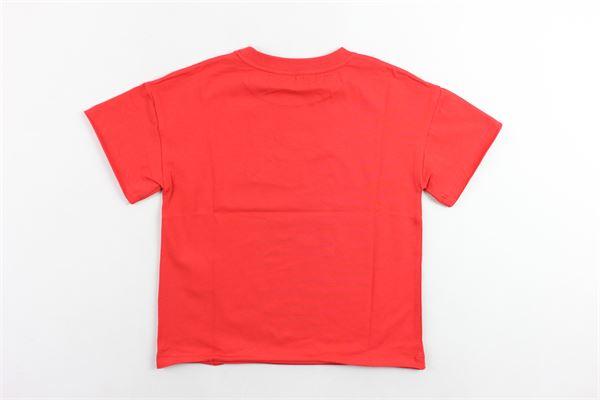 t-shirt mezza manica tinta unita con stampa modello oversize PHILOSOPHY | T-shirts | PJTS13ROSSO