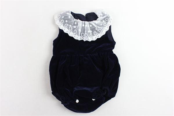 pagliaccetto giromanica in velluto con collo in velo PI CLOTHING | Pagliaccetti | 19588BLU