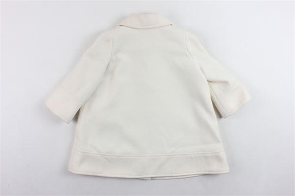 cappotto lungo tinta unita con tasconi PICCOLA LUDO   Giubbini   BF2WB067PANNA