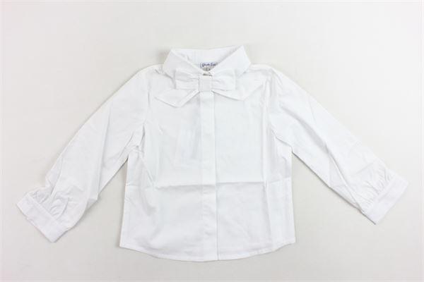 camicia manica lunga con applicazione spilla fiocco PICCOLA LUDO   Camicie   BS3WB024TES0264BIANCO