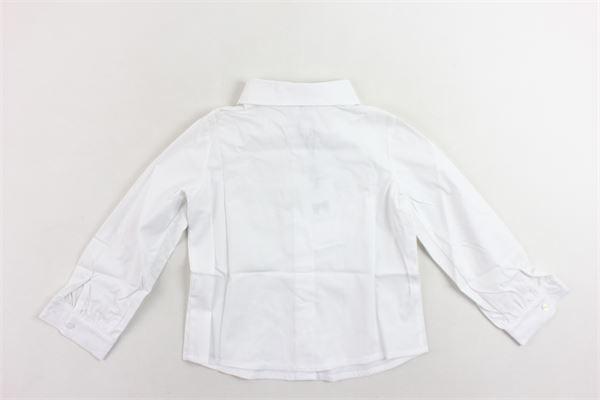 camicia manica lunga con applicazione spilla fiocco PICCOLA LUDO | Camicie | BS3WB024TES0264BIANCO