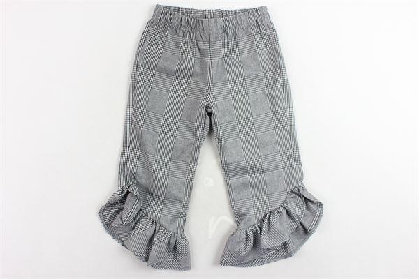pantalone microfantasia con rouches PICCOLA LUDO   Pantaloni   BS4WB027TES0347GRIGIO