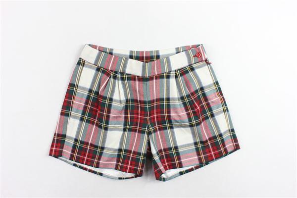 shorts vita alta scozzese PICCOLA LUDO   Shorts   BS4WB043TES0337ROSSO