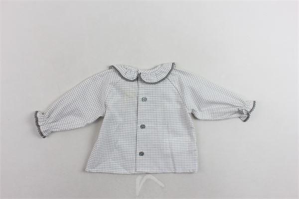 camicia microfantasia manica lunga collo con ricami PILI CARRERA | Camicie | 8200404BIANCO