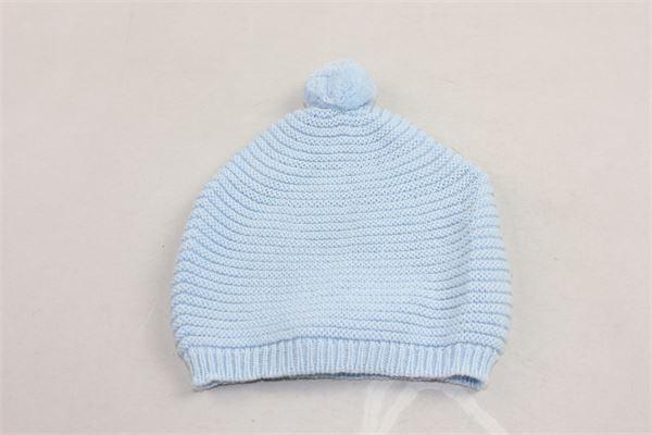 cappello tinta unita in lana con pon pon PILI CARRERA | Cappelli | 82053111CELESTE