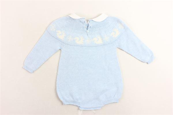 pagliacetto manica lunga in lana con stampa PILI CARRERA | Pagliaccetti | 8246301CELESTE