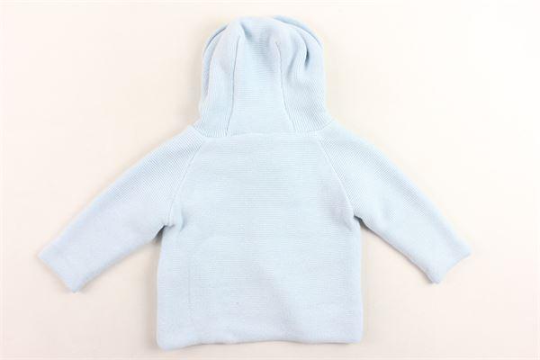 cappotto in maglia tinta unita con cappuccio PILI CARRERA | Giubbini | 8251000CELESTE