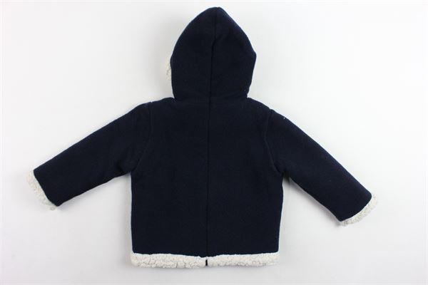 giubbino modello chiuso imbottito in lana con cappuccio e zip dietro PILI CARRERA | Giubbini | 8271200BLU