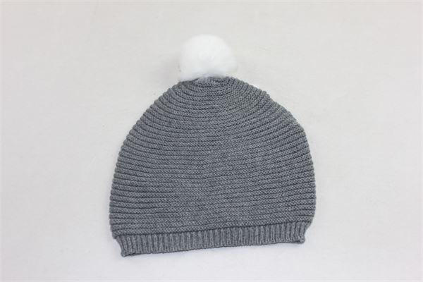 cappello tinta unita in lana con pon pon in contrasto PILI CARRERA | Cappelli | 850531111GRIGIO