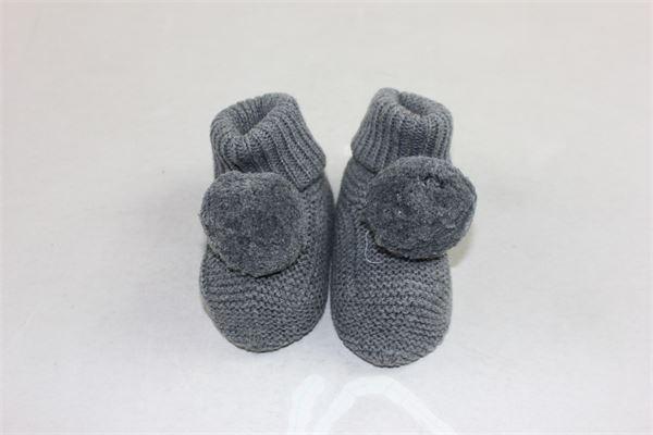 babbucce in lana tinta unita con pon pon PILI CARRERA | Babbucce | BABBUCCEPILICARRERA2GRIGIO