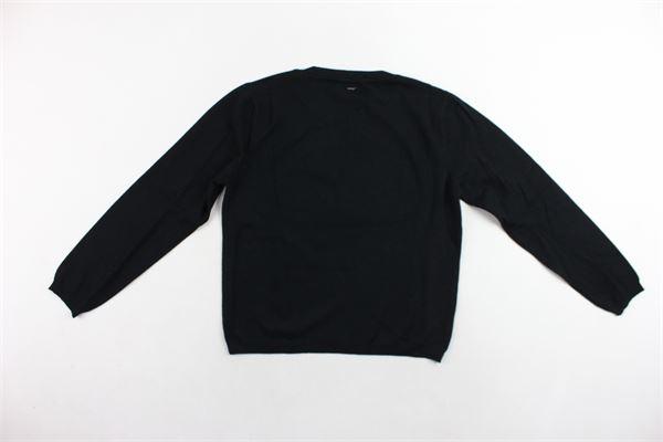 maglione girocollo tinta unita con stampa PINKO | Maglie | 1A115QY4UTNERO