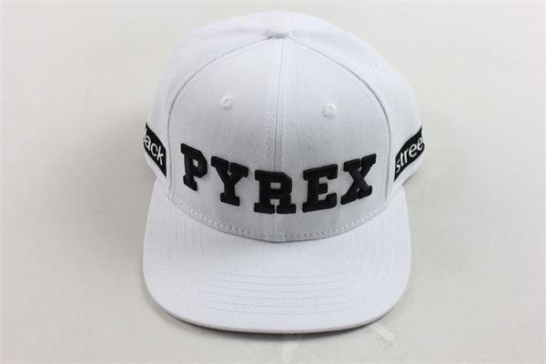 berretto tinta unita con stampa PYREX | Cappelli | 015896BIANCO