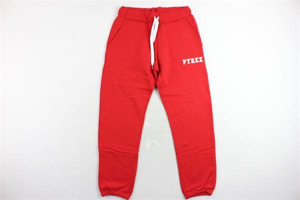 pantalone tuta felpato tinta unita con stampa. PYREX | Pantaloni | 18IPB34232ROSSO