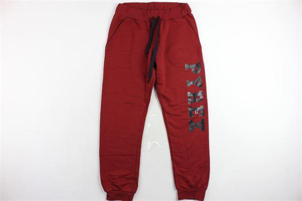 pantalone tuta felpato tinta unita con stampa PYREX | Pantaloni | 18IPB34233BORDEAU
