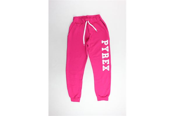 pantalone tuta felpato tinta unita con stampa PYREX | Pantaloni | 18IPB34233FUCSIA