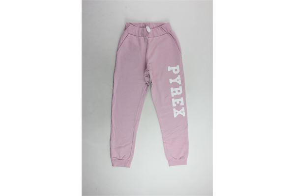 pantalone tuta felpato tinta unita con stampa PYREX | Pantaloni | 18IPB34233ROSA
