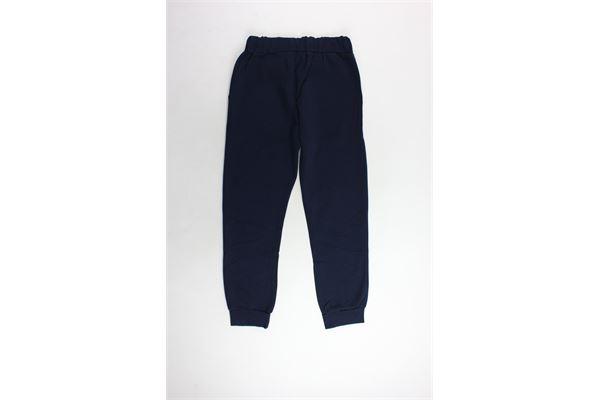pantalone tuta felpato tinta unita con stampa brillantinata PYREX | Pantaloni | 18IPB34237BLU
