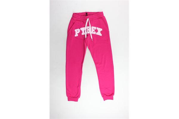 pantalone tuta felpato tinta unita con stampa PYREX | Pantaloni | 18IPB34264FUCSIA