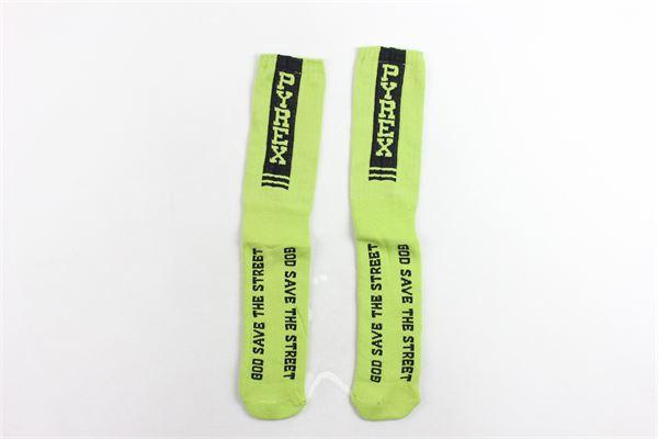 calzini lunghi in cotone tinta unita con stampa PYREX | Calzini | 33003VERDE