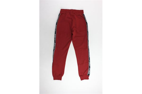 pantalone tuta garzato tinta unita con profili in contrasto PYREX | Pantaloni | PANTALONIPYREX1BORDEAU