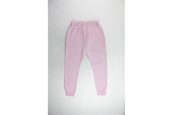 pantalone tuta felpato tinta unita con stampa. PYREX | Pantaloni | PANTALONIPYREX2ROSA