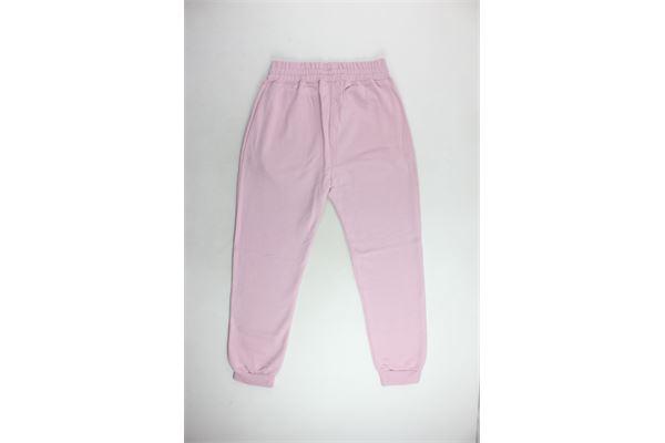pantalone tuta felpato tinta unita con stampa. PYREX | Pantaloni | PANTALONIPYREX3ROSA