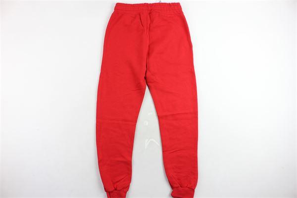 pantalone tuta felpato tinta unita con stampa PYREX | Pantaloni | PANTALONIPYREX4ROSSO
